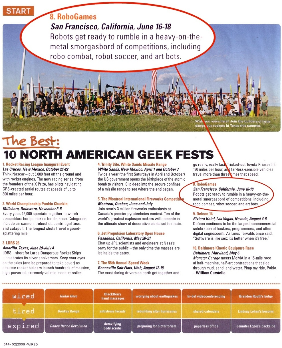 Wired Magazine: The Best Ten North American Geek Fests